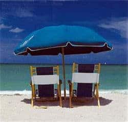 Chair and Umbrella Set