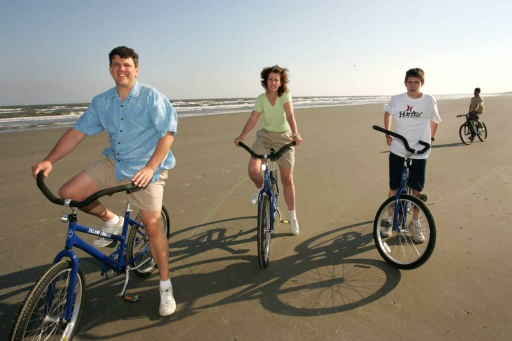 Kiawah Island beach biking