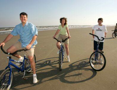 Kiawah Island beach biking