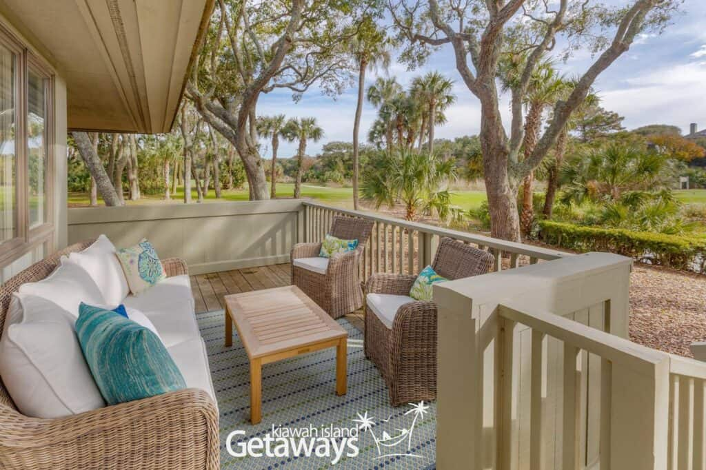 Vacation rental near trees on Kiawah Island